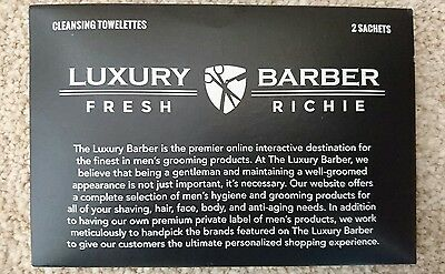 Luxury Barber shaving towelettes - USA import