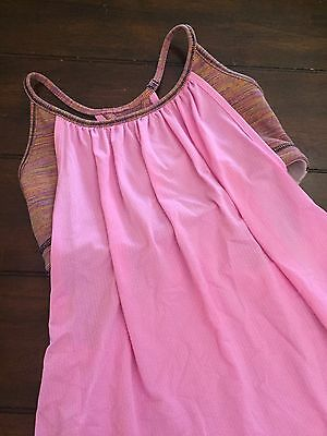 Lululemon Tuck Me In Pink Wee Space Stripe Tank Top Size 4