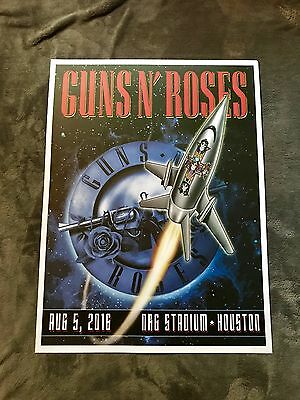 Rare Guns N Roses Houston, TX Lithograph Poster Not In This Lifetime Tour 2016