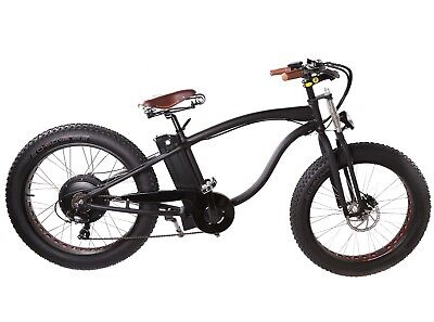 "e-Bike Frame Fat Bike Light Alloy Black Powder Coated 17.5"" Frame Only"