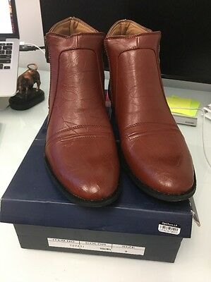 Men's Solo Size 9 Brown Boots New