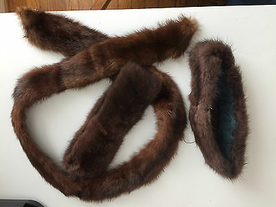 Vintage real fur collar and cuffs, EUC