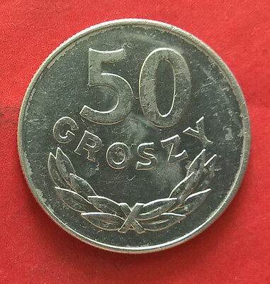 Poland 50 Groszy 1978 Al Coin Without Mint Mark