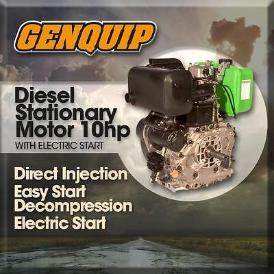 10HP Diesel Stationary GENQUIP Motor Electric Start