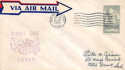 747 8c Zion, First Day Cover Cachet [Q234409]