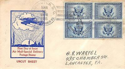 771 16c Imperf Air Mail Special Delivery, Ed Kee Cachet [E234230]
