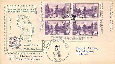 770a 3c Imperforate Mount Rainier, First Day Cover Cachet [E234220]