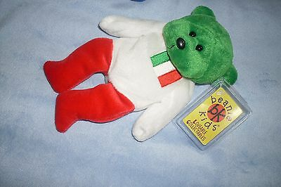 Beanie kids-  Guiseppe the Bear (order only)