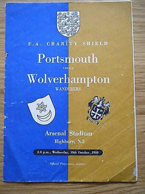 1949 PORTSMOUTH v WOLVERHAMPTON W. CHARITY SHIELD FOOTBALL PROGRAMME