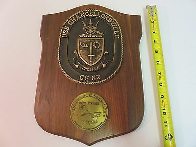 USS CHANCELLORSVILLE CG 62 wall PLAQUE PRESS ON