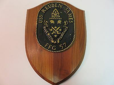 USS REUBEN JAMES FFG 57 wall PLAQUE BACK WITH VENGEANCE