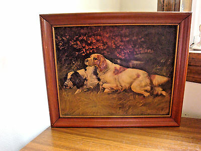 Vintage Litho USA G Muss Arnolt English Setter Dog Picture NOW FOR THE FLUSH