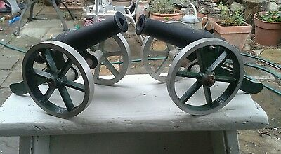 Vintage cannonx2.metal cannons.military? war games?? barnfind