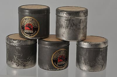 5 VINTAGE LATE 1930'S CANS of DEVELOPED 35MM FILM WWII NEWS CAPE COD CANAL DC