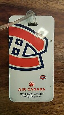 Air canada Montreal Canadiens luggage tag
