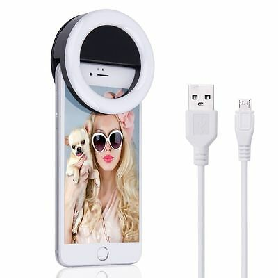 Rechargeable Selfie LED Ring Fill Light Camera Photography for iPhone Android