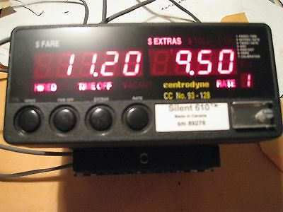 Used Centrodyne 610 Taxi meter, in excellent working condition,with wire harness