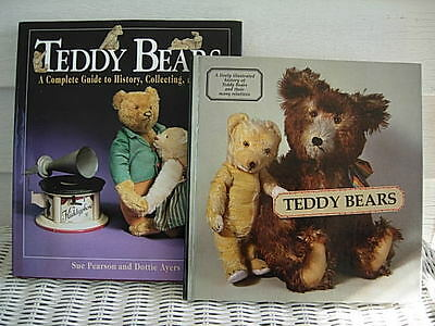 Lot Of 2 Teddy Bear Books - History Collecting And Care