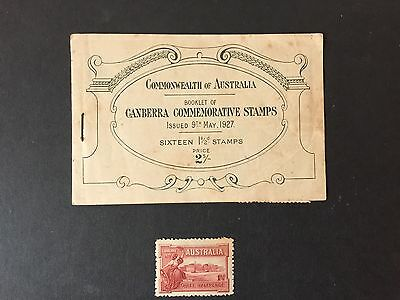 Australia 1927 Canberra Booklet Commemorative Stamps - Faults