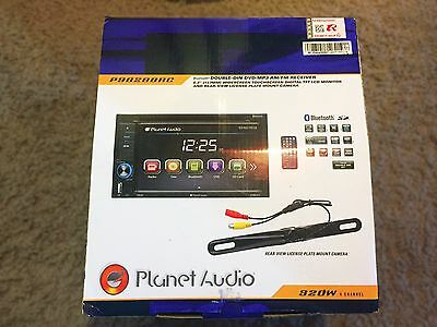 Planet Audio P9628BAC Bluetooth DVD/MP3/Receiver Touchscreen Car Stereo w Camera