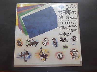 "Creative Memories 12""x12"" Primary Soccer addition paper pack"