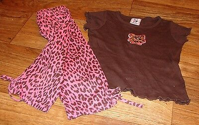 Girlfriends By Anita G Toddler Girls Size 4T Adorable Cat Top And Bottoms Set
