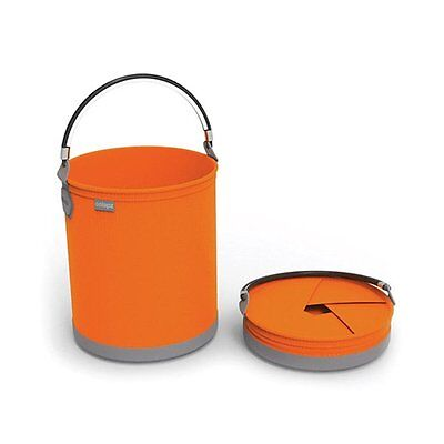 Colapz Collapsible 10L Bucket Gardening Outdoor Travel Camping Juicy Orange New