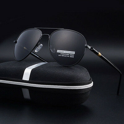 Mens Polarized Aviator Sunglasses Driving Fishing Glasses UV400 Sports Eyewear