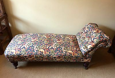 A totally unique professionally restored Victorian drop side chaise lounge