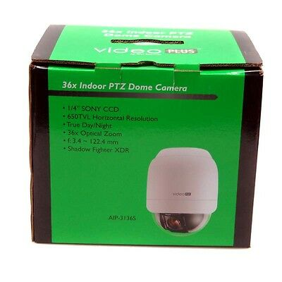 """NEW GVI AIP-3136S Indoor PTZ Camera 650TVL 36x Security Dome WDR 1/4"""" Sony CCD"""