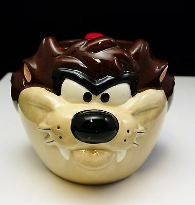 Tasmanian Devil Taz Cup Mug WARNER BROS Pottery Looney Tunes 1997 TV Cartoons