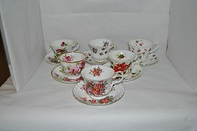 6 Highly Collectible And Named, ROYAL ALBERT, Tea Cup And Saucer Sets Lot #1