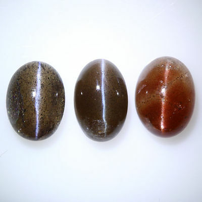 8.735 Cts UNIQUE RARE GREEN 100% NATURAL SPECTROLITE CAT'S EYE INDIA MINE 3-PCS