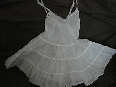 Vintage 50s Girls Childs Slip CRINOLINE Nylon 4 FC