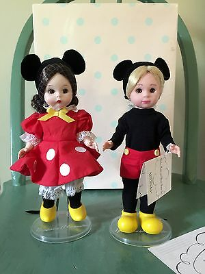 Madame Alexander Mickey Mouse and Minnie Mouse Set 31642 w Original Box & Stand