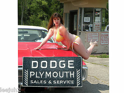 Dodge PLYMOUTH SALES & SERVICE  sign dealership  rectangle