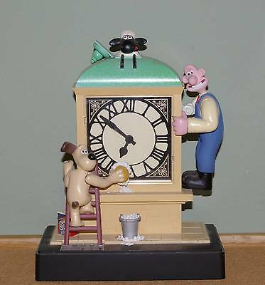 Wallace and Gromit Moving Musical Alarm Clock w/ Shaun the Sheep Wesco