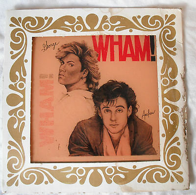 Vintage 1980's Carnival Price-ROCK GROUP: WHAM GLASS MIRROR-George Michael