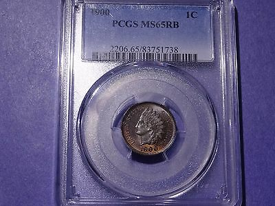 1900 Indian Cent PCGS MS 65 Red Brown