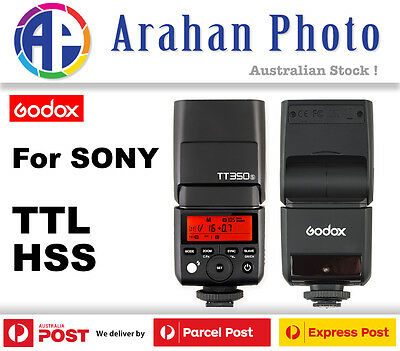 GODOX TT350S TTL HSS 1/8000S FLASH WITH BUILT IN X RECEIVER for Sony A7 A6000