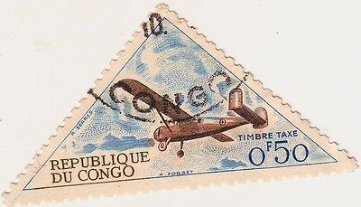 oblong STAMP shape, Republique of Congo .50