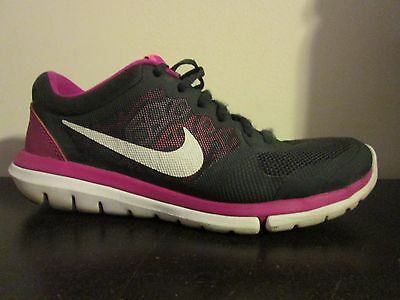 Women's Nike Flex Run 2015. Anthracite/Fusion/Pink. Size US 7.5