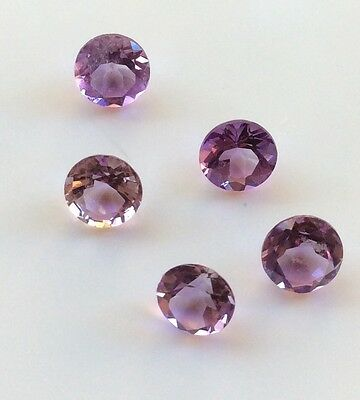 5 Pc Round Cut Shape Natural Light Amethyst 2.5Mm Faceted Loose Gemstone