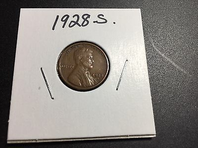 1928 S Lincoln Wheat Penny .