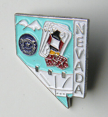 Nevada Us State Map Lapel Pin Badge 1 Inch