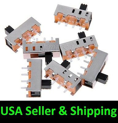 10pcs SS-13F11G5 3 Position 4 Pins SPDT Vertical mini Slide Switch PCB SS13F11G5