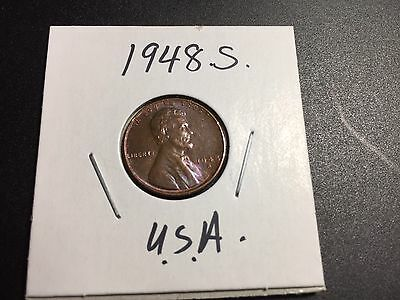 1948 S Lincoln Wheat Penny .