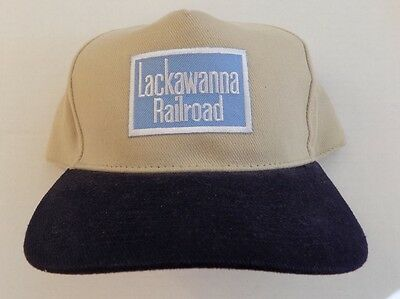 Lackawanna Railroad Baseball Cap Tan Blue DL&W NOS RARE