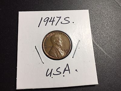 1947 S Lincoln Wheat Penny .