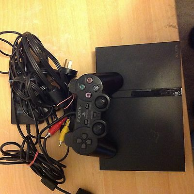 PlayStation 2 Console  leads and 1 controller